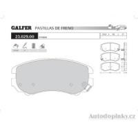 GALFER přední brzdové desky typ FDA 1045 HYUNDAI COUPE' (GK) 1.6i 16V -- rok výroby 02- ( brzdový systém AKE )