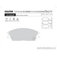 GALFER přední brzdové desky typ FDA 1045 HYUNDAI ACCENT (X-3) 1.3i 12V -- rok výroby 94-00 ( brzdový systém AKE )