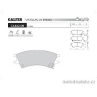GALFER přední brzdové desky typ FDA 1045 HYUNDAI ATOS PRIME (MX) 1.0i 12V -- rok výroby 99-02 ( brzdový systém AKE )