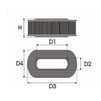 Sportovní filtr Green HYUNDAI SATELLITE 2,5L TD výkon 74kW (100hp) rok výroby 98-